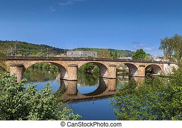 Pont Louis Philippe is bridge over Lot river, Cahors, France