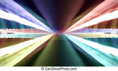 pont, lumière, modèle, étrange, valence, nuit, espagne