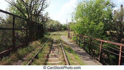 pont miniature, ferroviaire, travers, canal