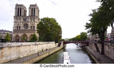 Pont Neuf, Paris, France - Notre Dame de Pari cathedral...