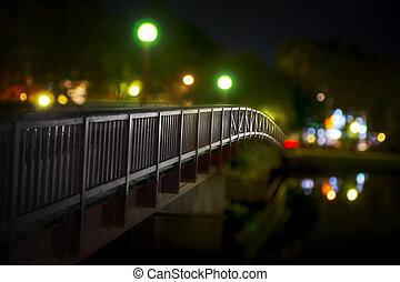 pont, nuit