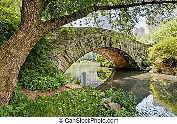 pont, parc, central