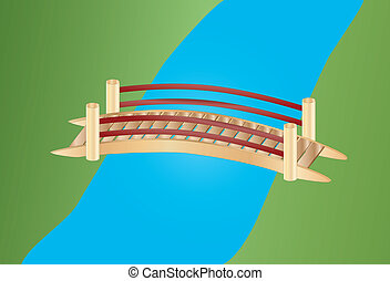 pont, peu, sur, ruisseau