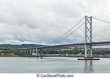 pont, plus vieux, scotland., edimbourg, forth, route