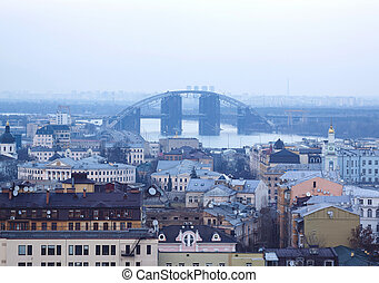 pont, podilsko-voskresenskyi, colline, château, night., vue