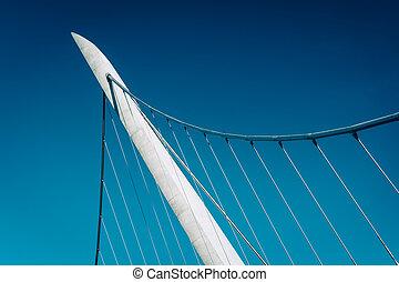 pont, port, conduire, piéton, s, détails, architectural