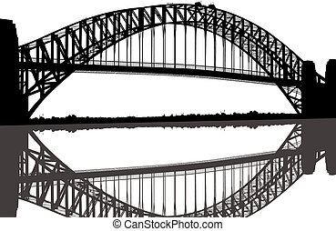 pont port sydney, silhouette