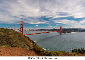 pont porte or, san francisco, californie