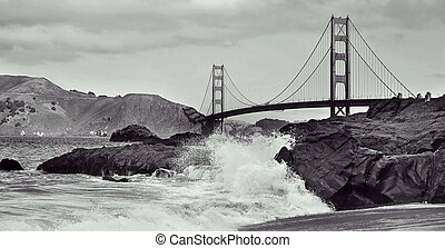 pont porte or, san francisco, etats unis
