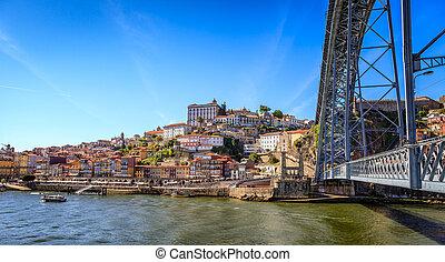 pont, porto, sur, historique, douro, rivière