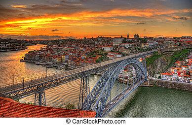pont, portugal, dom, -, porto, luis