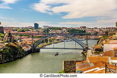 pont, portugal, dom, -, porto, luis, vue