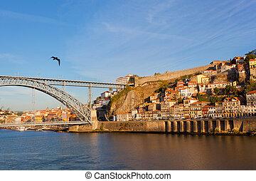 pont, portugal, porto, sur, douro, luis, rivière