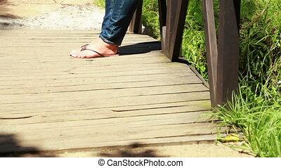 pont, position femme