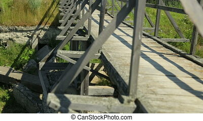 pont, rural, vieux