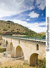 pont, sabor, portugal, sur, rivière, douro, vallée