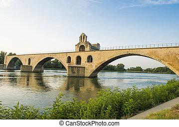 Pont Saint-Benezet - Ancient bridge Pont Saint-Benezet on...