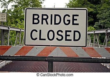 pont, signe., fermé