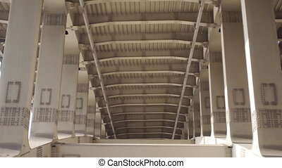 pont, structure métal, soutenir