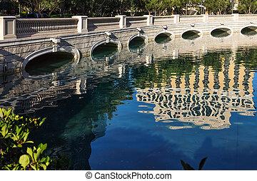 pont, sur, bellagio, lac