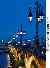 Perspective Pont Sur la Garonne, Bordeaux (France)