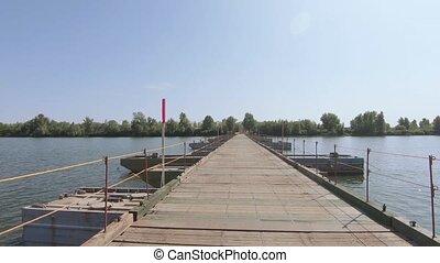 pont, sur, rivière, pantone