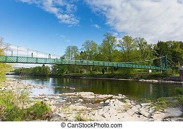pont, sur, rivière, tummel, pitlochry