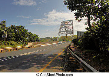 pont, sur, rivière, voûte, mtamvuma