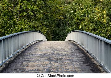 pont, sur, verdure