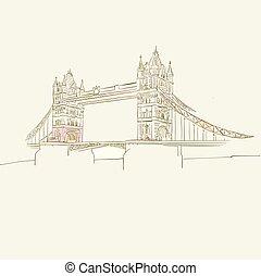 pont, symbole, londres
