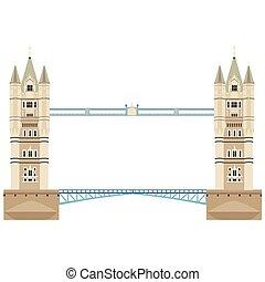 pont tour, vecteur