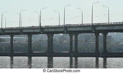 pont, trafic, urbain