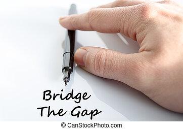 pont, trouée, concept, texte