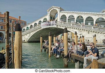 pont, venise, là, siècle, 28, venise, gondole, mille,...
