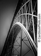 pont, vieux, fer