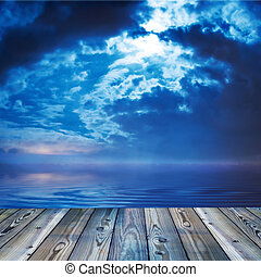 pont, vue océan