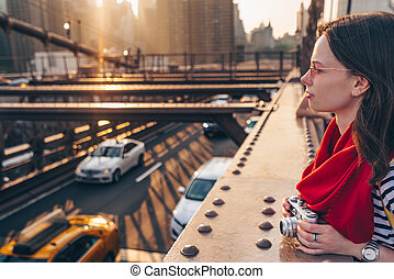 pont, york, jeune, nouveau, photographe