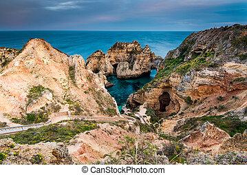 Ponta da Piedade natural landmark in Lagos, Algarve, Portugal