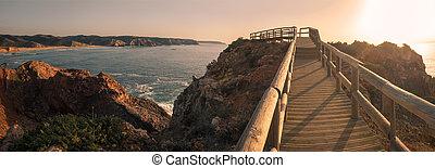 Ponta do Castelo by Carrapateira in Aljezur - Sunset on ...