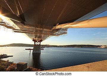 ponte, apoio, reacing, saída