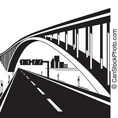 ponte, autostrada