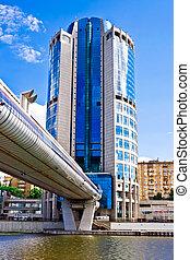 ponte, bagration, e, affari, grattacielo