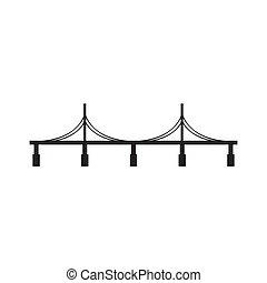 ponte, branca, experiência preta, ícone