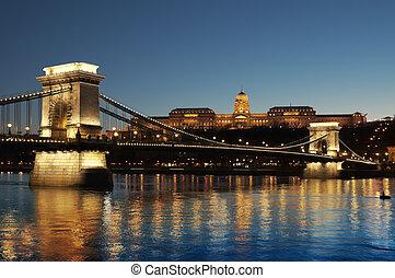 ponte, budapest, szechenyi, corrente