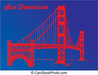 ponte, cancello, bo, notte, dorato