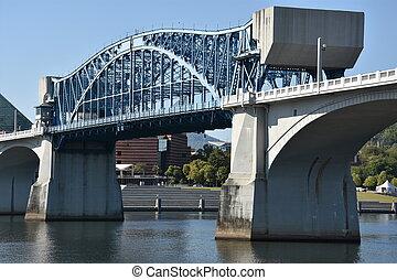 ponte, chattanooga, mercado rua