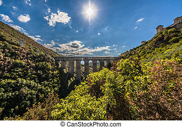 Ponte delle Torri - Towers' Bridge. One of the most famous...