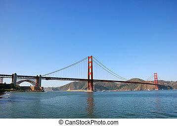 ponte, francisco, san, dorato, panorama, cancello