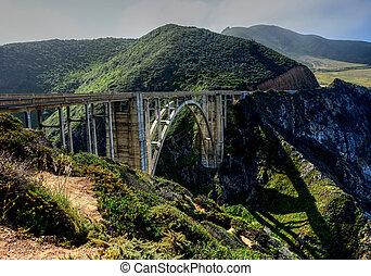 ponte, grande, 1, califórnia, sur, hwy