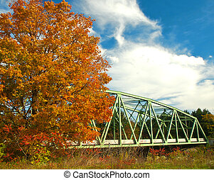 ponte, in, autunno